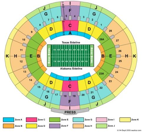 Rose Bowl Bcs Champ Zone