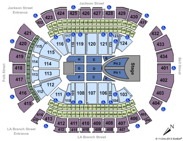 Houston Toyota Center Seating Chart With Seat Numbers