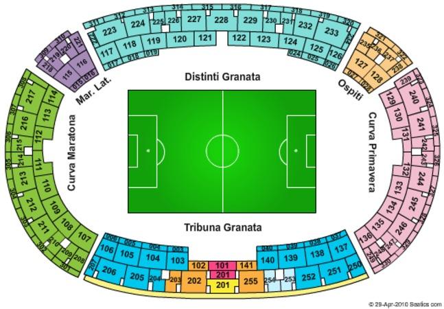 Stadio Olimpico Di Torino Tickets In Torino Turin Seating