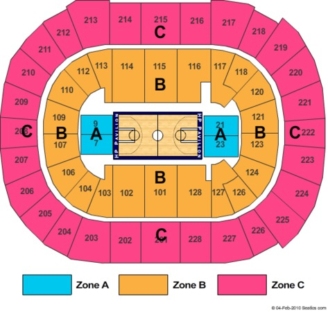 SAP Center Basketball Zone