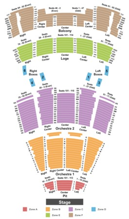 Times Union Ctr Perf Arts Moran Theater Endstage Pit Int Zone