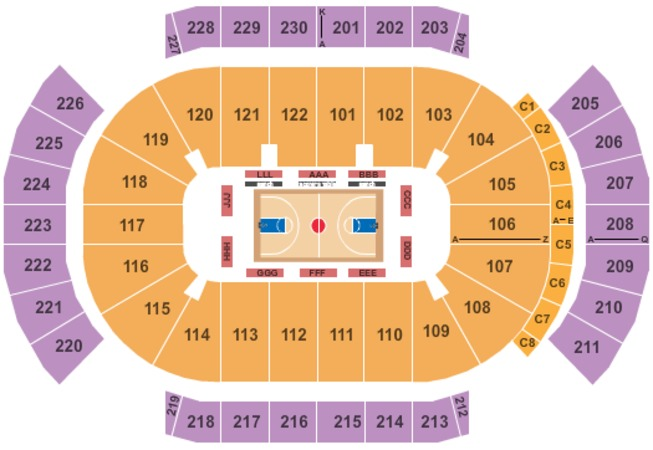 Gila River Arena Basketball