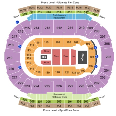 Scotiabank Saddledome 180 Reserved Floor