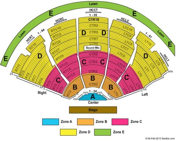 Dte Energy Music Theatre Tickets In Clarkston Michigan