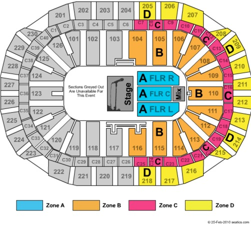 Xcel Energy Center Theatre Reserved Zone