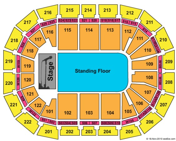 Manchester Arena End Stage GA Floor