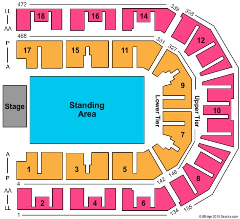 Liverpool Echo Arena Tickets In Liverpool Seating Charts