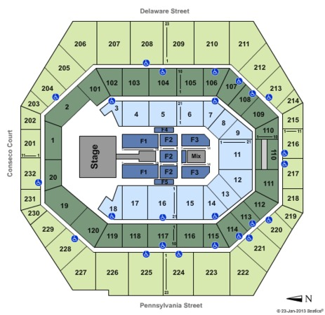 Bankers Life Fieldhouse Justin Bieber