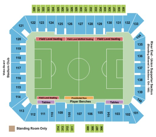 Talen Energy Stadium Tickets In Chester Pennsylvania