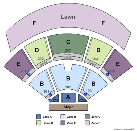 Va Beach Amphitheater Seating Chart Caska
