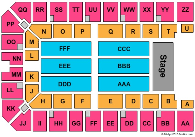 Ector County Coliseum Seating Chart Ector County Coliseum End