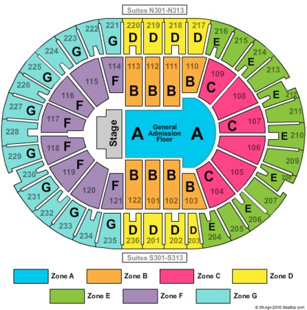Amway Arena End Stage GA Zone