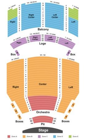 Santander performing arts center tickets in reading pennsylvania