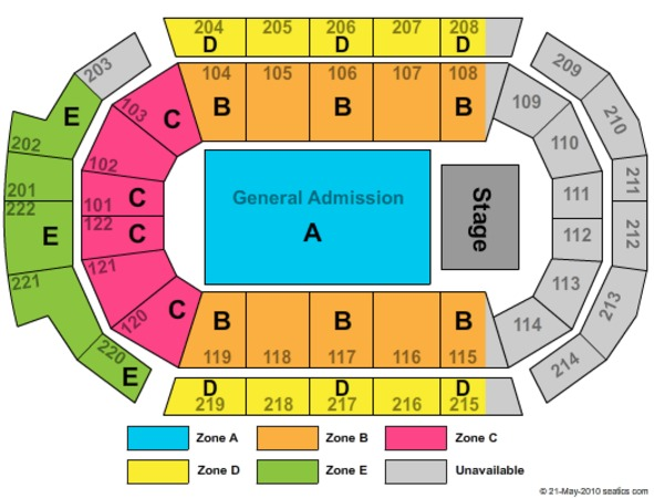 Family Arena GA Floor Zone