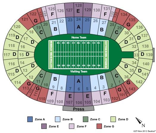 Cotton Bowl Stadium Tickets In Dallas Texas Cotton Bowl