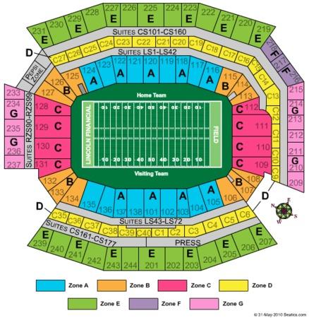 Lincoln Financial Field Tickets In Philadelphia