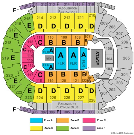 Scotiabank Saddledome Reserved Floor Zone