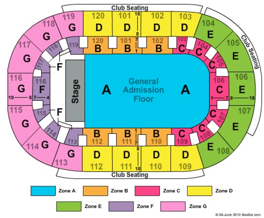 Germain arena seating chart view elcho table